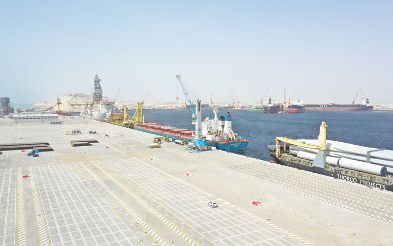 Customs, agriculture and health buildings and main gate to Duqm Port nearing completion